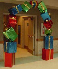 Arco de regalos de navidad