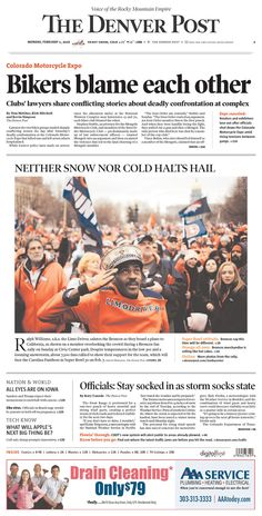 #20160201 #USA #DENVER #COLORADO #TheDenverPost Monday, FEB 1, 2016 http://www.newseum.org/todaysfrontpages/?tfp_show=80&tfp_page=1&tfp_id=CO_DP