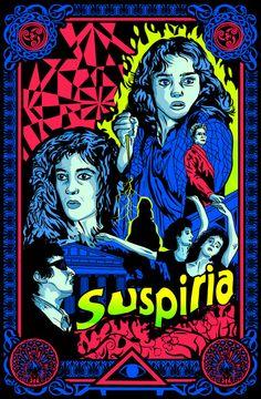 Suspiria illustration by Steve Jencks at Scream Prints