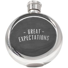 Izola Great Expectations Flask (260 MXN) ❤ liked on Polyvore featuring home, kitchen & dining, bar tools, filler, silver, izola flask and izola