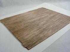 """aged"" Hardwood Floor - made by scoring single piece of wood"