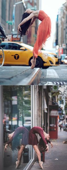 """culturenlifestyle: """" Beautiful Ballet Portrait Of Performers Claiming The Streets Of NYC Ballet is an intimately physical art that has been merged with the beauty of music, photography and dance,..."""
