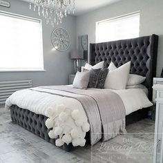 Roselyn Bed - The Luxury Bed CompanyYou can find Luxury bedding and more on our website.Roselyn Bed - The Luxury Bed Company Room Ideas Bedroom, Dream Bedroom, Home Decor Bedroom, Bed Room, Bedroom Designs, Bedroom Bed, Bedroom Country, Single Bedroom, Bedroom Ceiling