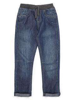 Boys Denim Waistband Pull on Jeans - BHS