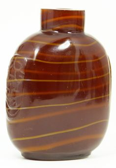 CHINESE RED AGATE SNUFF BOTTLE