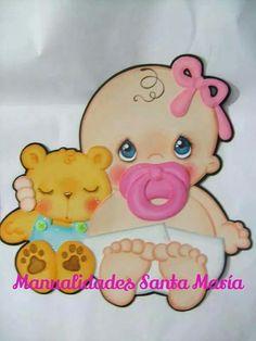 Bebê Foam Crafts, Diy Crafts, Paper Crafts, Wooden Crafts, Moldes Para Baby Shower, Baby Shower Souvenirs, Memory Crafts, Animal Sewing Patterns, Baby Shawer