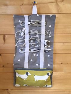 Travel cable tidy organiser storage cable by SunnyBunnyCraft on Etsy
