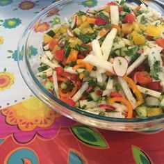 Jicama And Pomelo Salad With Spicy Thai Dressing (Vegan) Recipe ...