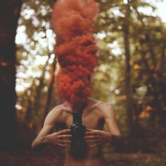 Smoke Bomb Photography in Color Photography