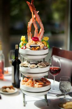 Delicious looking seafood tower..its just a pic...but I could so do this!!!