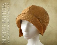 SEWING PATTERN  Lucille 1920s Twenties Cloche Hat for Child