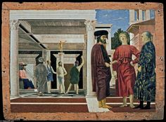 'The Flagellation of Christ', Tempera by Piero Della Francesca (1415-1492, Italy)