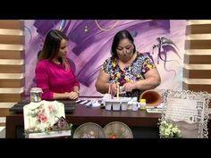 02/03/2015 – Suporte envelhecido com trio de vasos de cerâmica com decoupage e pintura – Rose Rodrigues   RS21