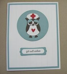 Owl Nurse -- uses Stampin Up's owl punch and Teeny Tiny Wishes stamp set