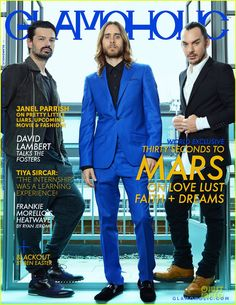 Thirty Seconds To Mars Cover The June 2013 Issue of Glamoholic magazine. David Lambert Talks The Fosters. Thirty Seconds, 30 Seconds, David Lambert, Jered Leto, Requiem For A Dream, Love U So Much, Shannon Leto, Love And Lust, Foo Fighters