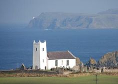 Rathlin Island in the background