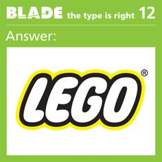 """Congrats to everyone who guessed """"Lego"""" for this week's Type is Right."""