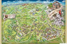 University of Virginia Campus Illustrated Map