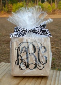 Monogrammed Coasters Set of 4 by TheSpunkyRooster on Etsy, $20.00