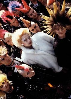 Nina hagen and sum other punks, by photographer Hannes schmid, middle to late 80's