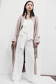 She's become a master at sculptural draping and yet, she's only two seasons into her eponymous label. Designer Claudia Li, a former womenswear designer at J.W. Anderson, pursued the theme of self preservation for her latest collection. After a personal event shocked her world, she was inspired to