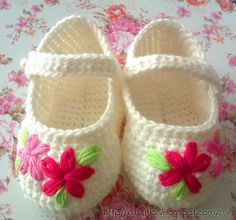 Free crochet diagram for baby shoes