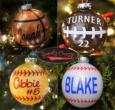 Softball Baseball Football Basketball ornament pre sale!