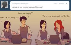 Jealousy by julvett (Think of this as James' perspective, that will explain Lily's shirt)