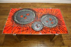 WOW , a tiled coffee table by Belarte of Belgium Tiled Coffee Table, Retro Coffee Tables, Vintage Coffee, Tile Tables, Chrome, Pure Products, Rugs, Tiling, Image