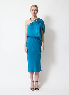 Lanvin One-Shoulder Draped Dress | Order this item on RESEE.com |