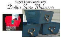 dollar store storage makeover, repurposing upcycling, storage ideas