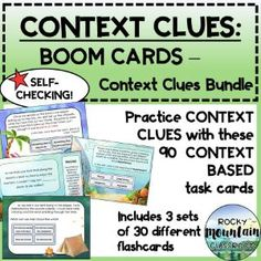 Boom Cards - Context Clues Bundle Vocabulary List, Vocabulary Building, Vocabulary Words, Context Clues, Figurative Language, Inference, Reading Skills, Idioms, Student Learning