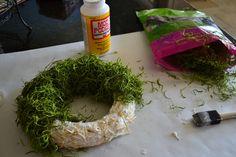 Spanish Moss Wreath Diy Christmas Gifts, Holiday Crafts, Fun Crafts, Christmas Wreaths, Holiday Decor, Moss Decor, Moss Wreath, Wreaths And Garlands, Spanish Moss