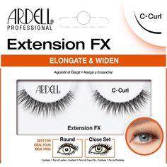 Introducing Ardell Extension FX Eye-Opening Effect B-Curl Lash Lash ready to wear strip lashes. Inspired by a fresh application of Salon applied eyelash extensions. Ardell Eyelashes, Curl Lashes, Volume Lashes, False Eyelashes, C Curl, Deep Set Eyes, Beauty Lash, Salon Services, Types Of Curls