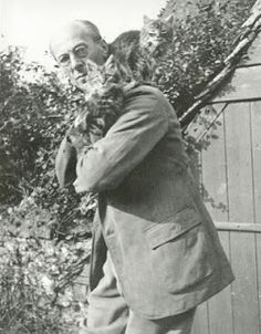 Portraits of Famous Artists and Their Cats - Arthur Rackham. Image courtesy of the Clarke Historical Library, Central Michigan University. Edward Gorey, Arthur Rackham, Salvador Dali, Henri Matisse, Andy Warhol, Pablo Picasso, Ai Weiwei, Wassily Kandinsky, Cute Kittens