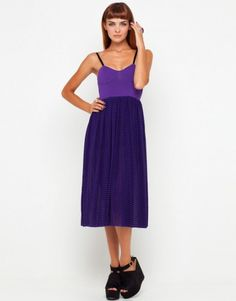 Vestido largo violeta. Vestidos de fiesta
