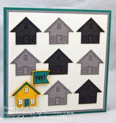 Nicole Wilson Independent Stampin' Up! Demonstrator: You Brighten My Day Paper Art, Paper Crafts, New Home Cards, Stamping Up Cards, Creative Cards, Scrapbook Cards, Cardmaking, Stampin Up, Birthday Cards
