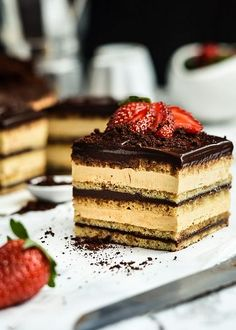 There is no denying this cake has theater! Make a statement with a creamy, rich and indulgent Coffee Opera Gateaux. Much too complicated for my lazy kitchen but looks delicious!
