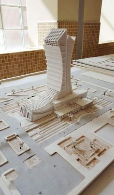 Model, Architecture Department / University of Sulaimani Architecture Concept Drawings, Architecture Student, Futuristic Architecture, Facade Architecture, Archi Design, 3d Modelle, Arch Model, Decor Interior Design, Room Interior