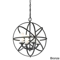 The Aranya 4-light orbit pendant has an intricate design that can be finished with bronze or chrome. This uniquely styled fixture would grab a great deal of attention and certainly impress guests.
