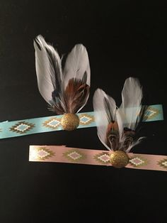 Boho Baby indian princess princess headband Feather от BandsOfEden