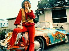 Janis Joplin and her psychedelic Porsche 356. SHE WAS ALWAYS MY FAVORITE, WE SHARED A JOINT, AND SOUTHERN COMFORT AT A CONCERT IN MIAMI, IN 70 OR EARLY 71, CAN'T REMEMBER