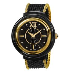 Alor Black and Yellow Stainless Steel Watch at Sands Point Shop