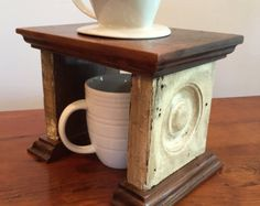 Coffee Pour-Over Stand made from reclaimed by AgnesHillCo on Etsy