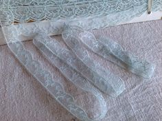 A personal favourite from my Etsy shop https://www.etsy.com/uk/listing/264533041/antique-lace-vintage-blue-lace