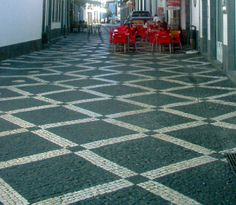 Decorative Sidewalk in Portugal - photo from Tuga to the World