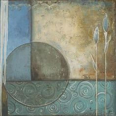 Patricia Pinto Solid-Faced Canvas Print Wall Art Print entitled Inspiration in Blue II Wall Art Prints, Poster Prints, Canvas Prints, Big Canvas, Mixed Media Canvas, Art Drawings Sketches, Beautiful Paintings, Diy Painting, Watercolor Paper