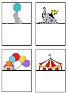 Circus themed matching games for pre-schoolers, kindergarten or special ed