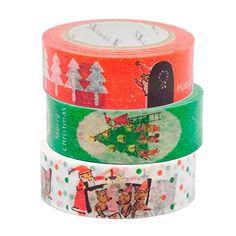 シール堂 Shinzi Katoh マスキングテープ 3巻セット Xmas1 ks-mt-30025