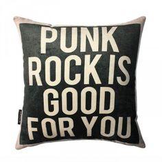 PUNK ROCK pillow goth decor
